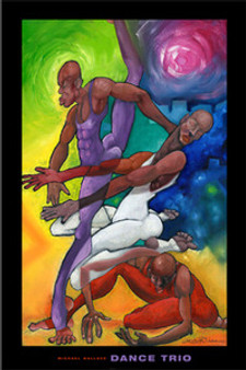 Dance Trio Art Print - Michael Wallace