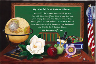 My World Is A Better Place Art Print - Mermon Woodall