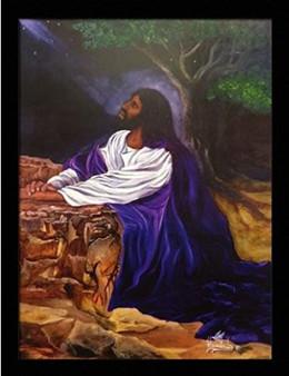 And He Prayed In The Garden Art Print - Hermon Woodall