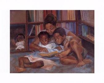 The Reading Art Print - Sharon Wilson