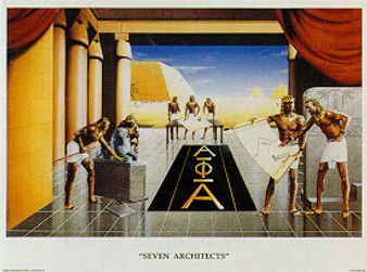 Seven Architects (Alphas) Art Print - Edward Clay Wright