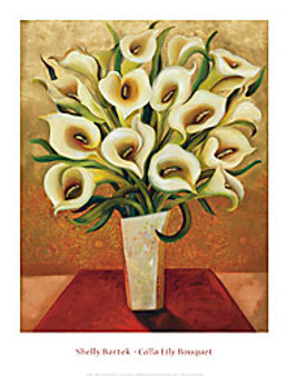 Calla Lily Bouquet Art Print - Shelly Bartek