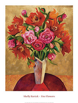 Fire Flowers Art Print - Shelly Bartek