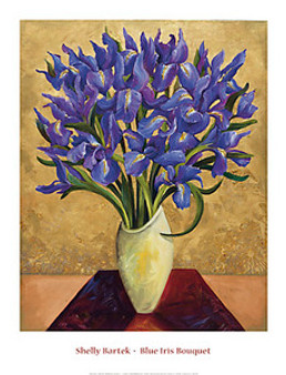 Blue Iris Bouquet Art Print - Shelly Bartek