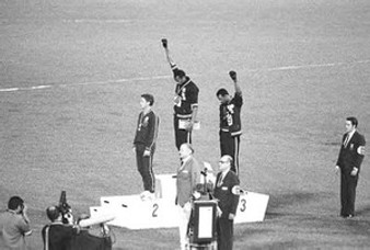 Black Power Olympic Medalists, Mexico City, 1968 Art Poster