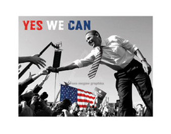 Barack Obama: Yes We Can (crowd) (8.25 x 11in) Art Print