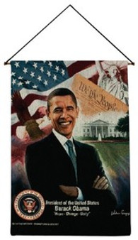 President Barack Obama Wall Hanging