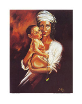 Mother and Child Art Print - Michael Escoffery