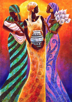 Sisters of the Sun Limited Edition Art Print - Keith Mallett