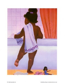 Bubble Bath Girl Art Print - Stanley Morgan