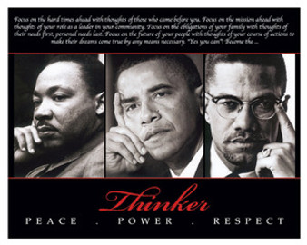 Thinker (Trio): Peace, Power, Respect 8 x 10 Art Print