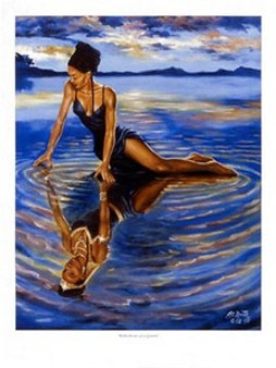Reflections of a Queen Art Print - A.C Smith