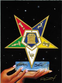 5 Points Of Light - Eastern Star (10 x 8) Art Print - Gerald Ivey