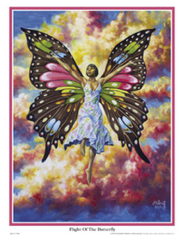 Flight of the Butterfly Art Print - A.C Smith