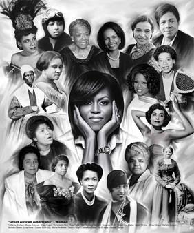 Great African Americans: Women Art Print - Wishum Gregory