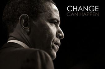 Barack Obama: Change Can Happen Art Poster