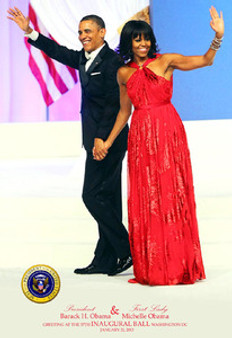 President Barack Obama & First Lady Michelle Obama Greeting at the 57th Inaugural Ball 2013 Art