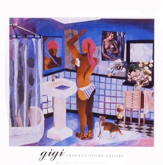 Man in Shower (Ho's Bath) Art Print - Gigi Boldon