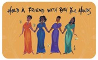 Hold A Friend With Both Your Hands African American Floor Mat--Cidne Wallace