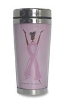 Strength Is The New Pretty African American Travel Mug | Breast Cancer Awareness--Cidne Wllace