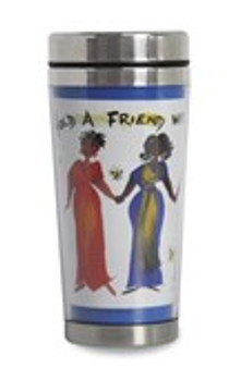 Hold A Friend With Both Your Hands African American Travel Mug--Cidne Wllace