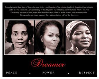 Dreamer (Trio): Peace, Power, Respect 16 x 20 Art Print