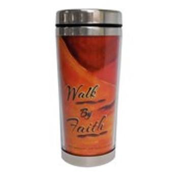 Walk By Faith Travel Mug--Kerream Jones