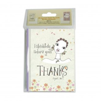 KW Assorted Thank You Cards --Kiwi McDowell