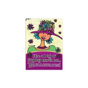Big Ol' Church Hat Magnet--Kiwi McDowell