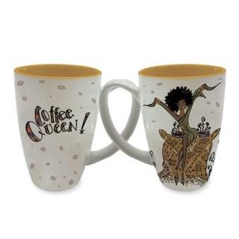 Coffee Queen!  Latte Mugs--Kiwi McDowell