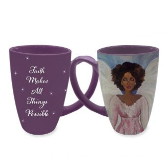 """Faith Makes All Things Possible Latte Mugs--Sylvia """"GBaby"""" Cohen"""