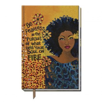 """Soul On Fire  Large Cloth Journal--Sylvia """"GBaby"""" Cohen"""