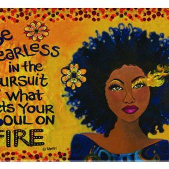 """Soul On Fire Memory Foam Floor Mat --Sylvia """"GBaby"""" Cohen"""