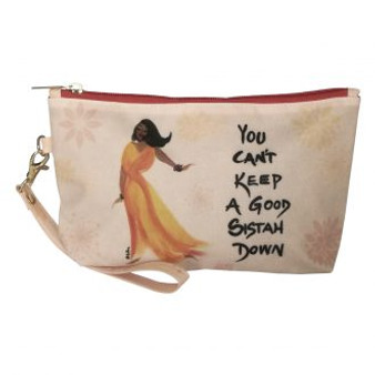 You Can't Keep A Good Sistah Down Cosmetic Pouch-Cidne Wallace