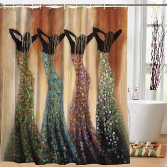Dance of the Summer Solstice Shower Curtain--Monica Stewart