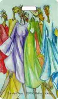 Danc'n Divas Luggage Tag--Malika Jackson