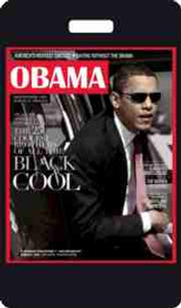 Obama-Black Cool Luggage Tag