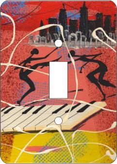 Cuban Keyboard Single Light Switch Cover