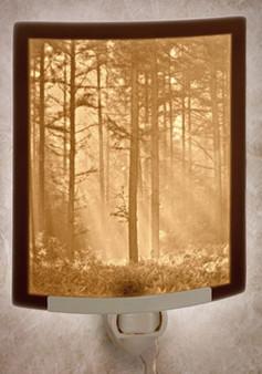 WOODLAND SUNBEAMSCurved Panel Night Light-- Lithophanes