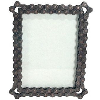 Recycled Bicycle Chain Photo Frame