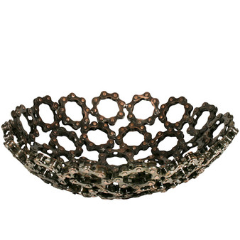 Recycled Bicycle Chain Bowls from India--Medium