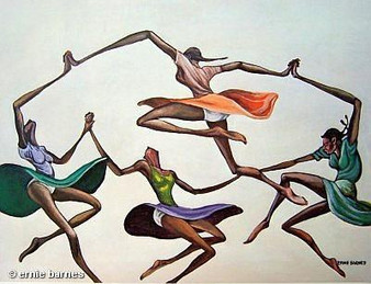 Ring Around The Rosie Art Print-- Ernie Barnes