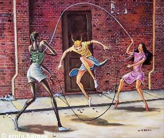 Double Dutch Art Print-- Ernie Barnes