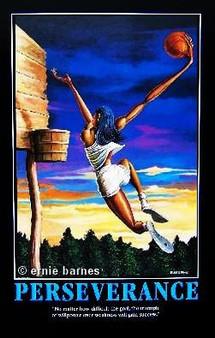 The Dunk (Perseverance)  Art Print-- Ernie Barnes