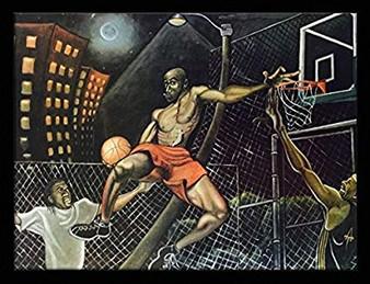 Midnight Slammin (Basketball) Art Print--Tracy Andrews