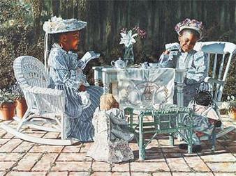 Tea Party Art print-- Melinda Byers