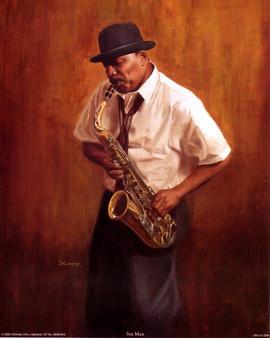 Sax Man Art Print--Jason Delancey