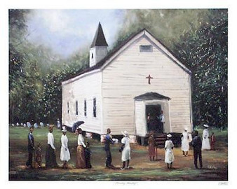 Sunday Worship Art print --  Ted Ellis