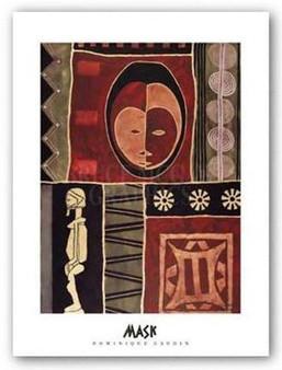 """""""Mask I"""" Art Print--Dominique Gaudin"""
