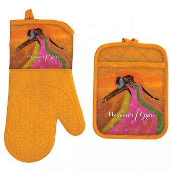 Women of Grace Oven Mitt and Potholder Set--Kerream Jones